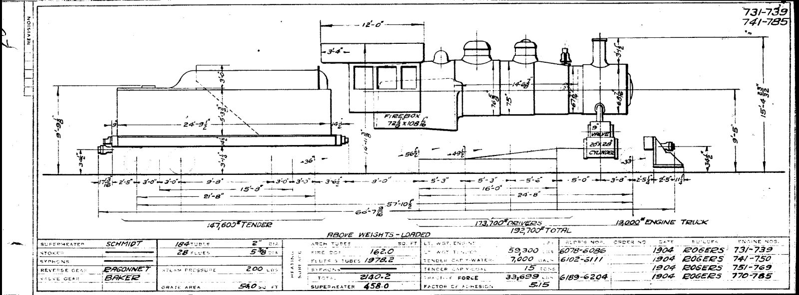 illinois central 1933 locomotive diagrams