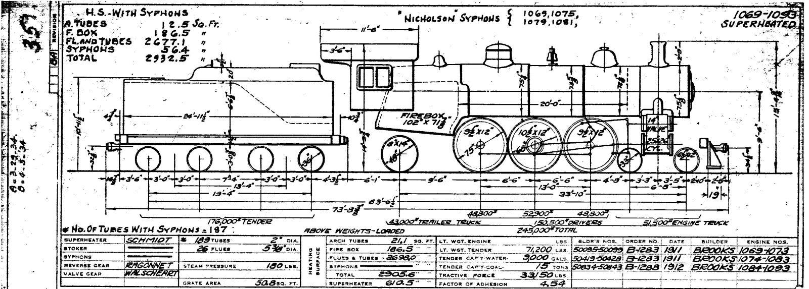 Illinois Central 1937 Locomotive Diagrams Art Train Engine Diagram 30 1302 31 Locomotives 1310 1312 32 1501 1550 33 1551 1599 34 35 1598