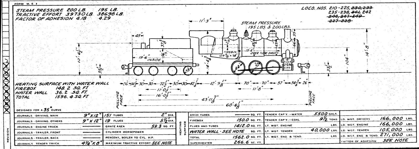 Illinois Central 1955 Locomotive Diagrams P 51 Engine Diagram Page 47 Locomotives 328 333 48 473 49 600 617 Diesel 50 700 716 726